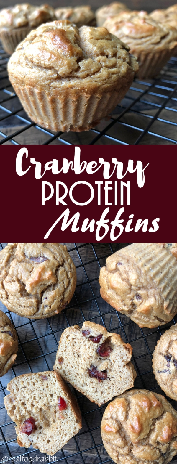 Cranberry Protein Muffins