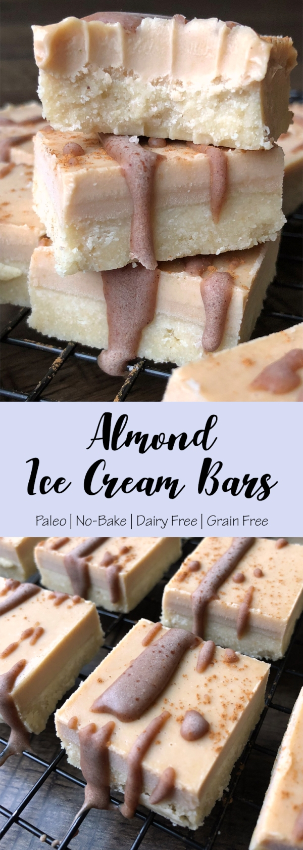 Almond Ice Cream Bars