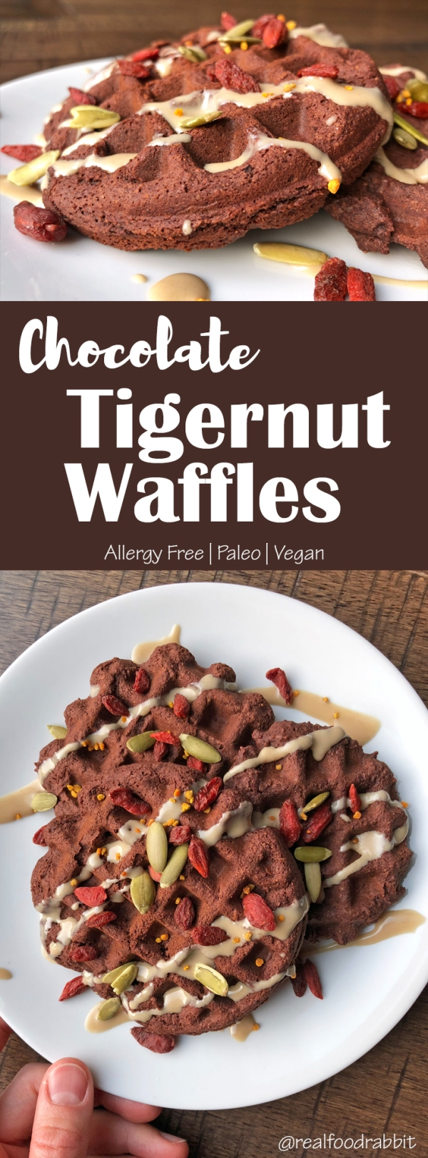 Chocolate Tigernut Waffles
