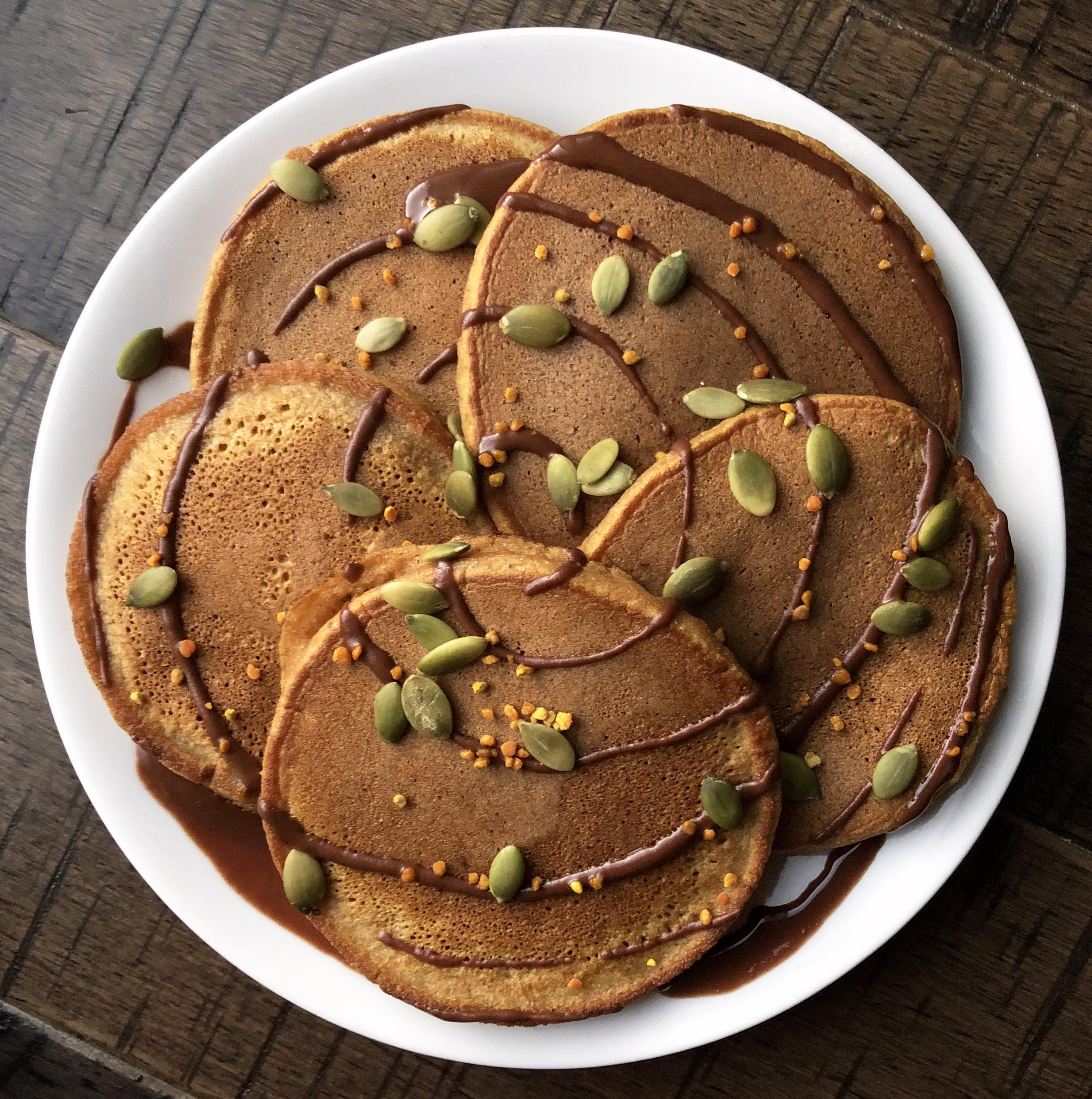 Pumpkin Cassava Pancakes